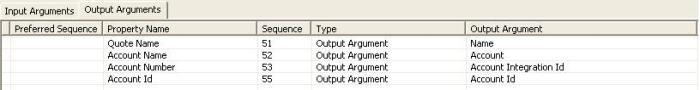 PRM ANI Utility Service BS Input Arguments